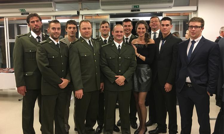 Členovia VŠC Dukly Trenčín na osalve 50. narodenin